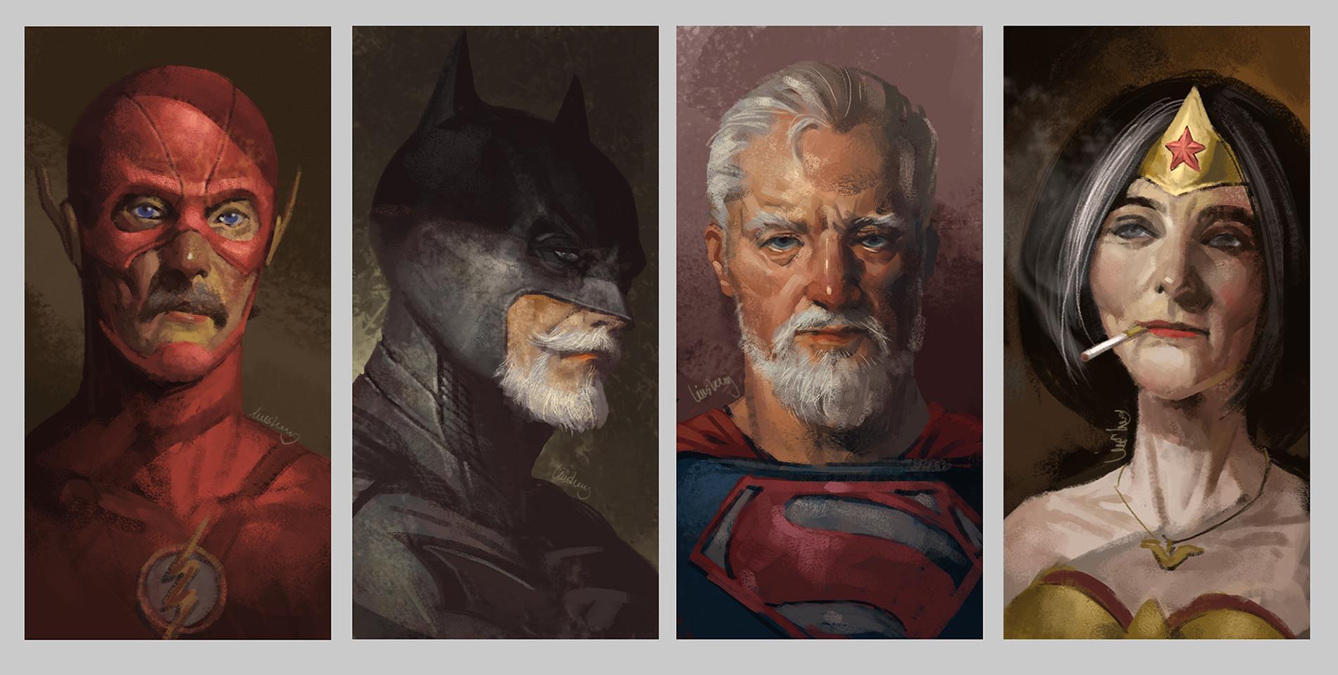 Les super-héros âgés de Eddie Liu