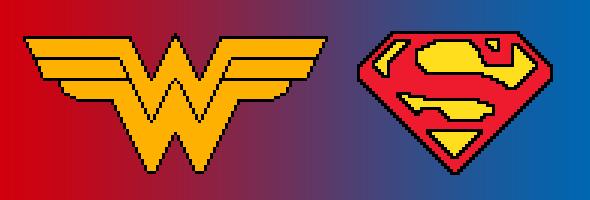 Fond d'écran iPhone Wonder Woman et Superman